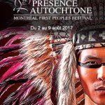 Bannière festival Présence Autochtone 2017